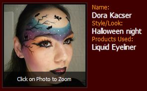 Dora Kacser Halloween night